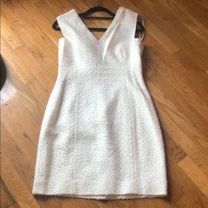 Kate Spade Madison Ave white tweed jacket/dress 10